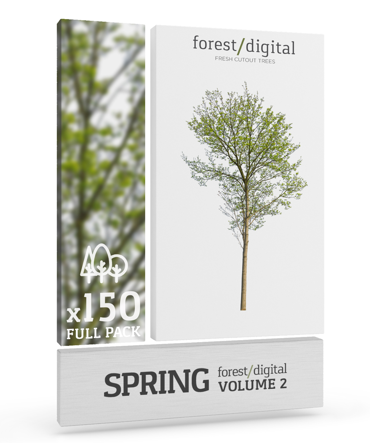 forest/digital | Spring trees vol. 2 - 150 Cutout trees ...